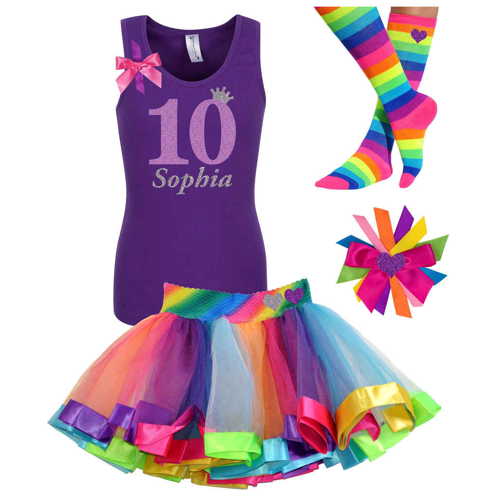 10th Birthday Outfit Lavender Rose - 10th Birthday - Bubblegum Divas Store