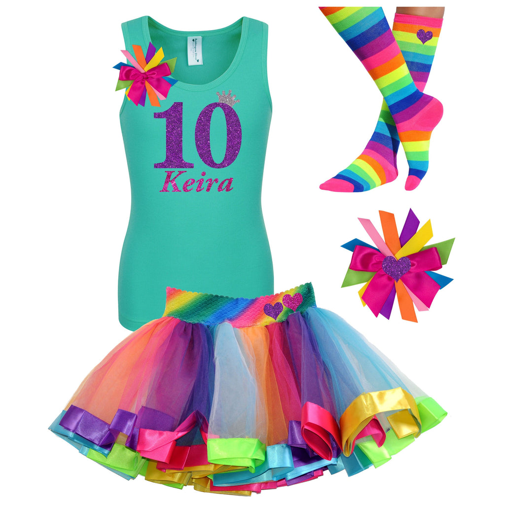 10th Birthday Outfit - Purple Bubble Sparkle - Outfit - Bubblegum Divas Store