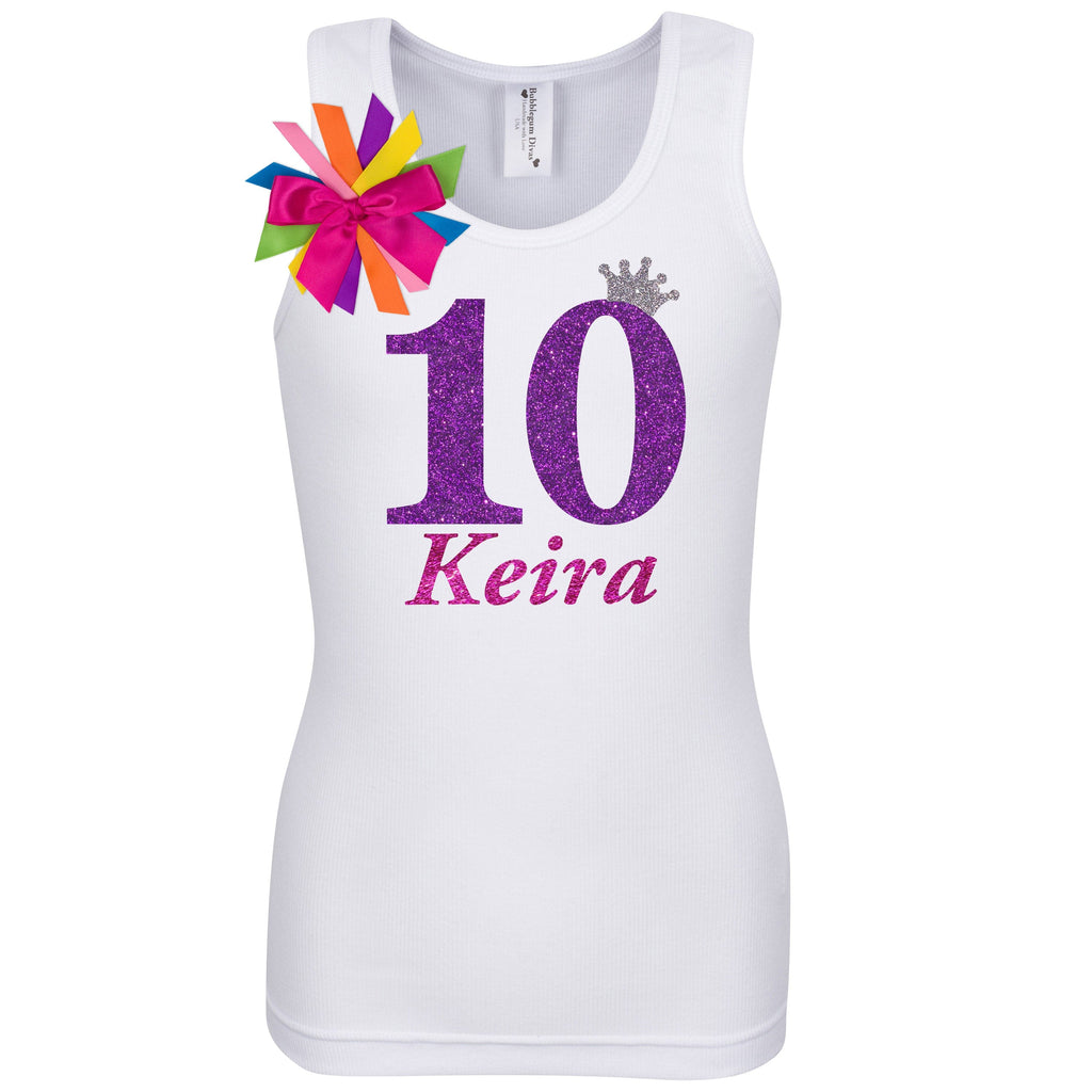 10th Birthday Shirt - Diamond Grape - Shirt - Bubblegum Divas Store