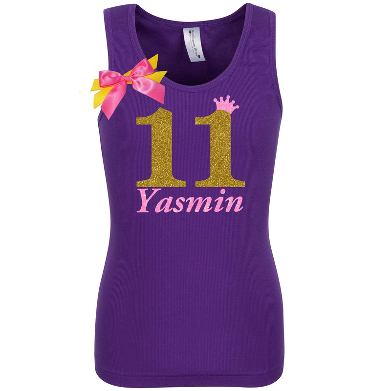 11th Birthday Shirt - Golden Caramel - Shirt - Bubblegum Divas Store