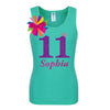 11th Birthday Shirt - Purple Bubble Sparkle - Shirt - Bubblegum Divas Store