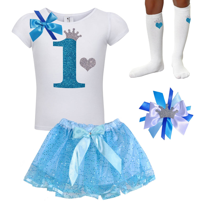 1st Birthday Outfit -  Blueberry Bliss - Outfit - Bubblegum Divas Store
