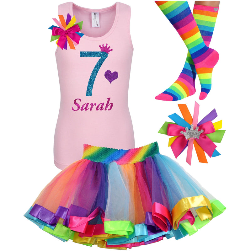 7th Birthday Outfit - Blue Cherry Twist - Outfit - Bubblegum Divas Store