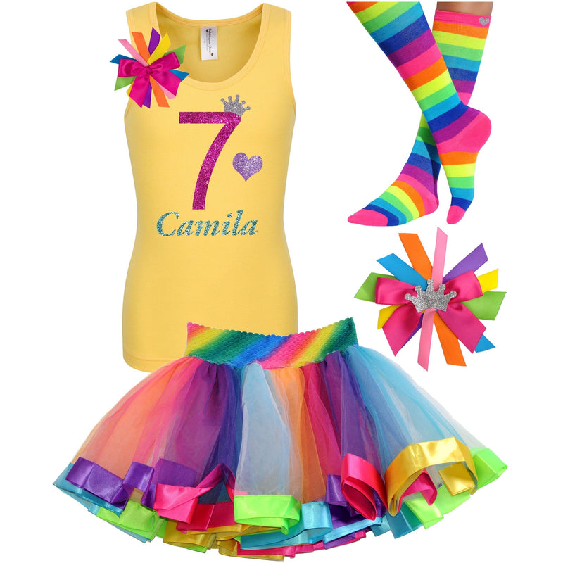 7th Birthday Outfit - Bubble Berry Sparkle - Outfit - Bubblegum Divas Store