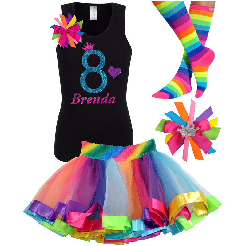 8th Birthday Outfit - Blue Cherry Twist - Outfit - Bubblegum Divas Store