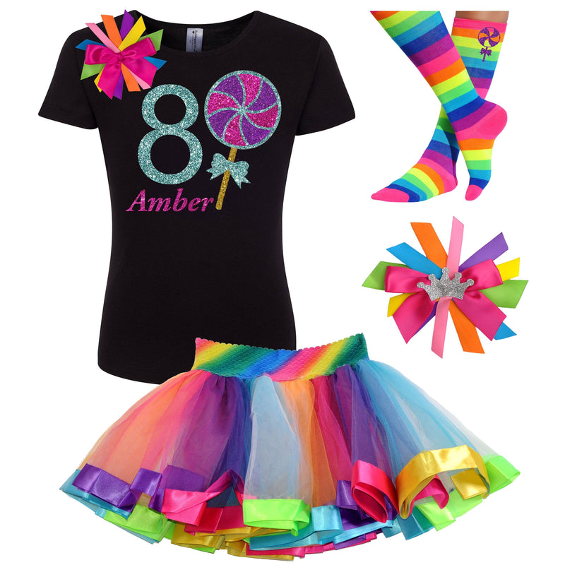 8th Birthday Outfit - Berry Twist Lollipop - Outfit - Bubblegum Divas Store