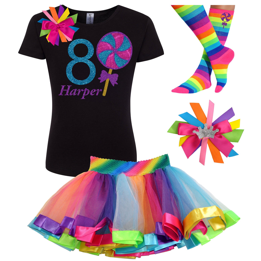 8th Birthday Outfit - Blueberry Swirl Lollipop - Outfit - Bubblegum Divas Store