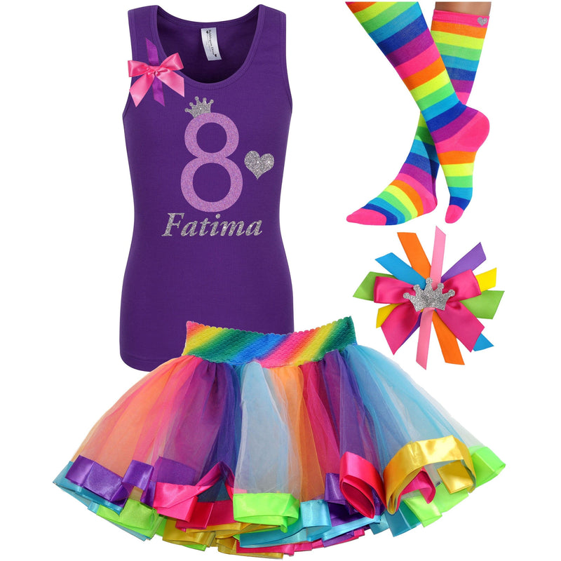 8th Birthday Outfit - Lavender Rose - Outfit - Bubblegum Divas Store