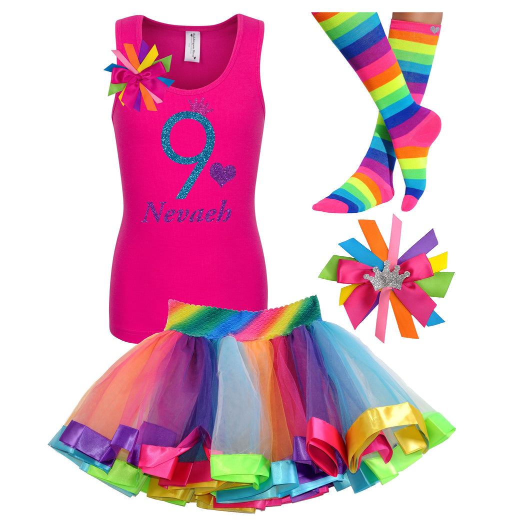 9th Birthday Outfit - Blue Cherry Twist - Outfit - Bubblegum Divas Store