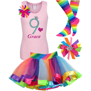 Green Apple Twist 9th Birthday - 9th Birthday Outfit - Bubblegum Divas Store
