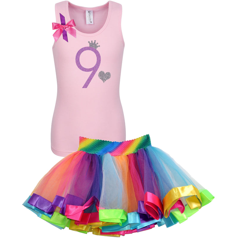 9th Birthday Outfit Pink Blossom - Set - Bubblegum Divas Store