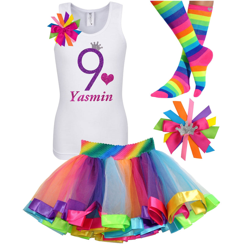 9th Birthday Outfit - Purple Bubble Sparkle - Outfit - Bubblegum Divas Store