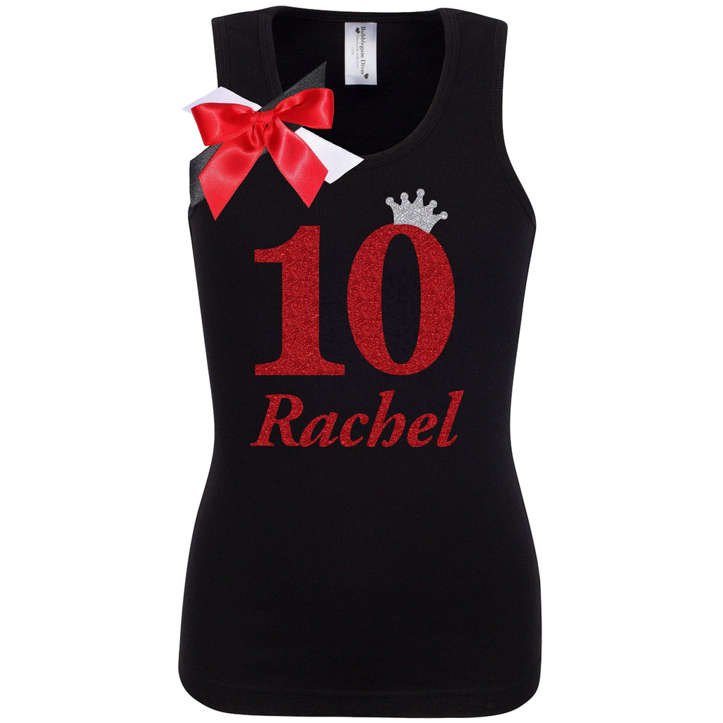 10th Birthday Shirt - Black Cherry Dazzle - Shirt - Bubblegum Divas Store