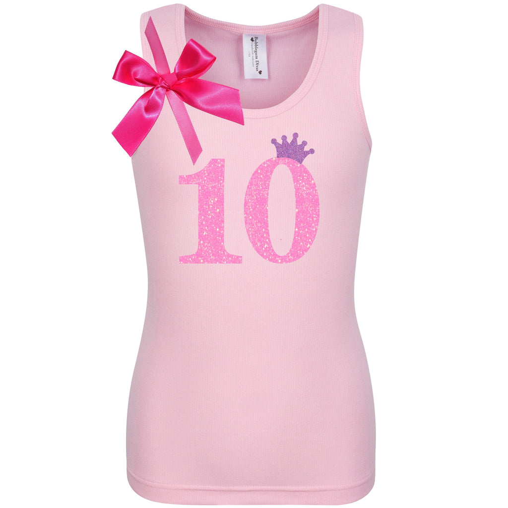 10th Birthday Shirt - Pink Bubble Sparkle - 10th Birthday - Bubblegum Divas Store