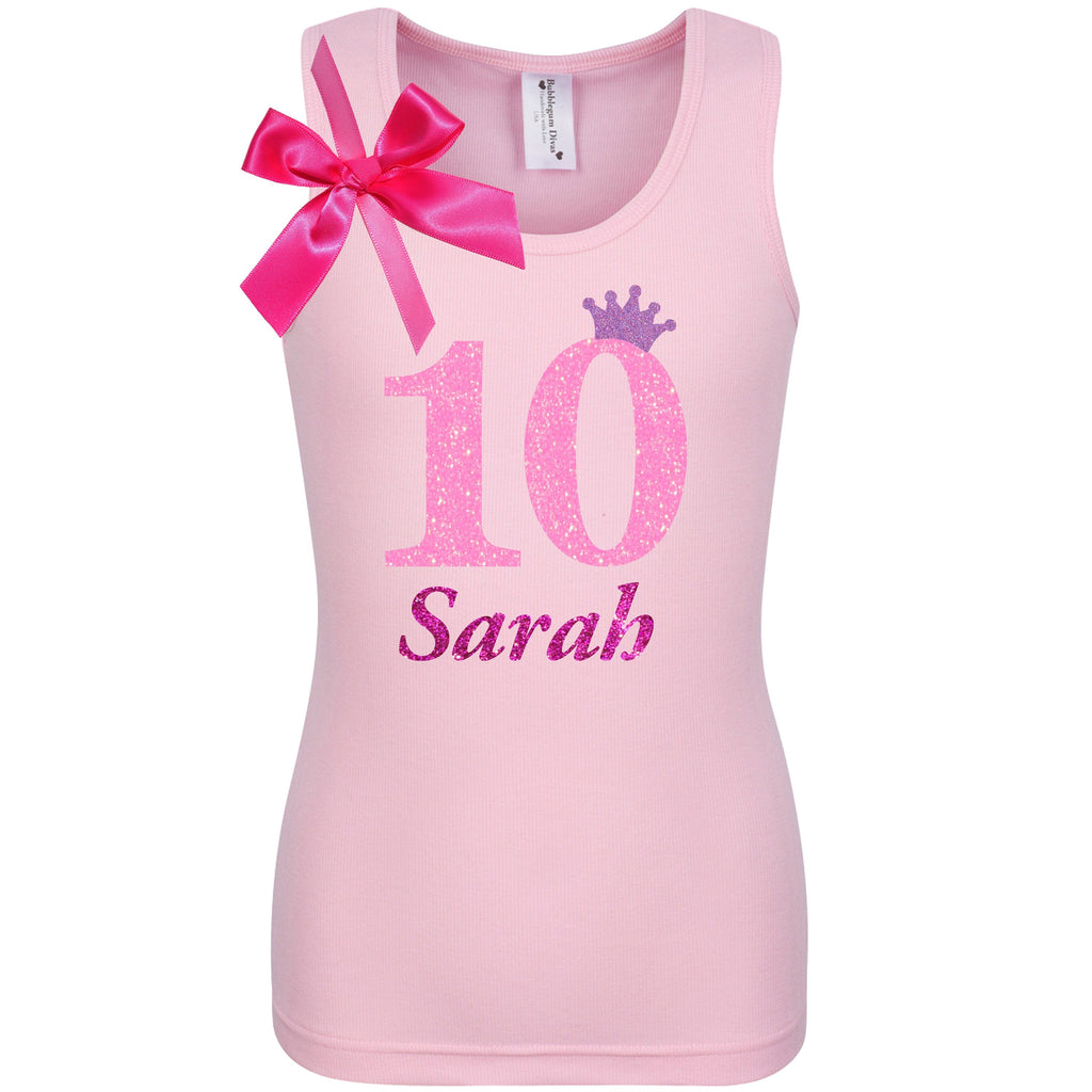 10th Birthday Shirt - Pink Bubble Sparkle