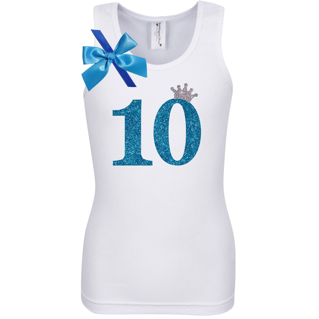 10th Birthday Shirt - Blueberry Bliss - Shirt - Bubblegum Divas Store
