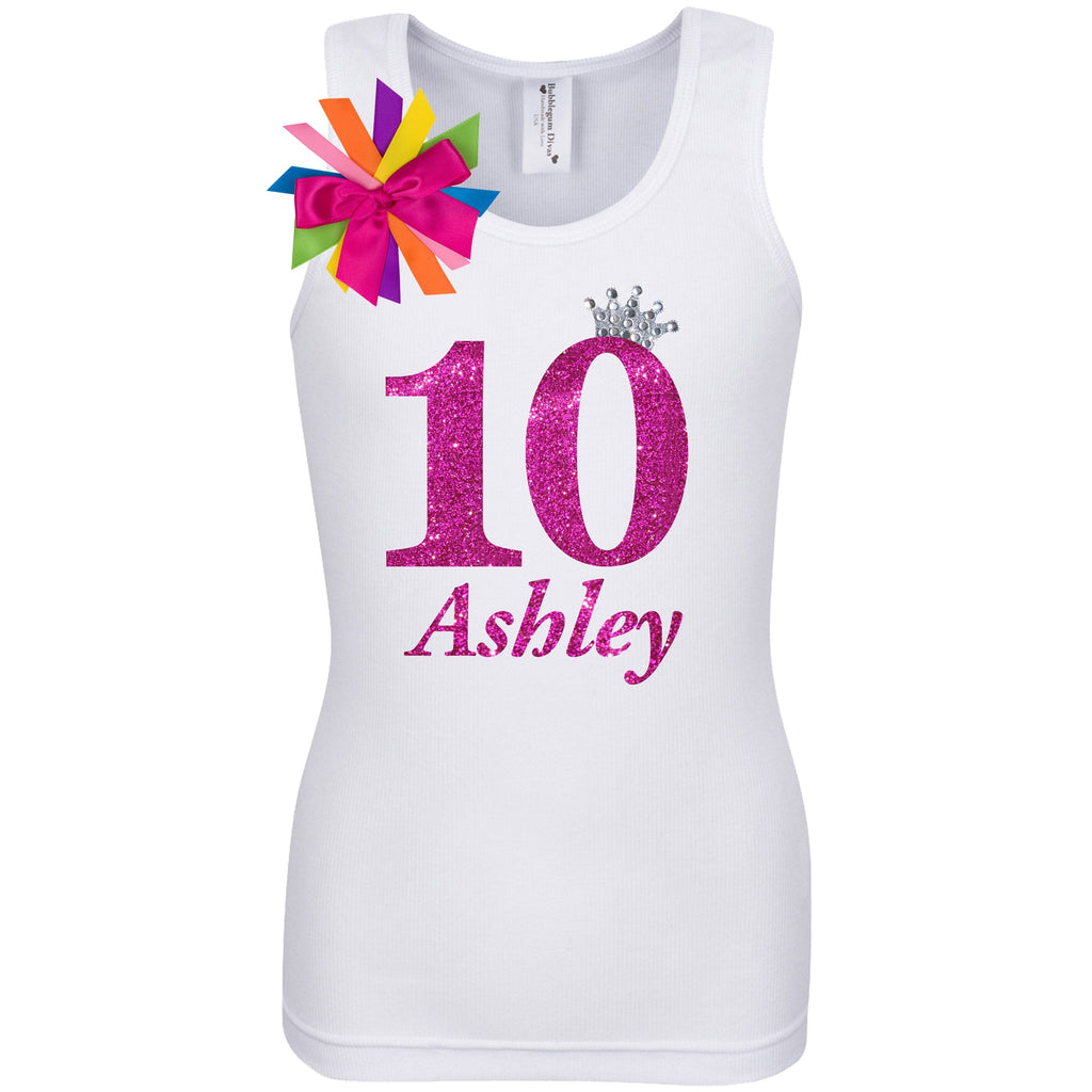 10th Birthday Shirt - Diamond Cherry - Shirt - Bubblegum Divas Store