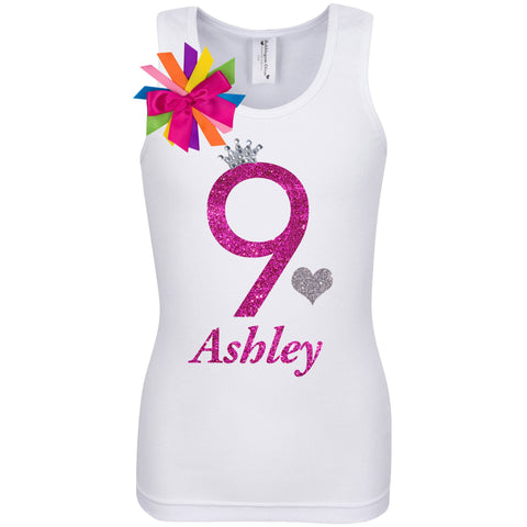 9th Birthday Shirt - Bubble Berry Sparkle