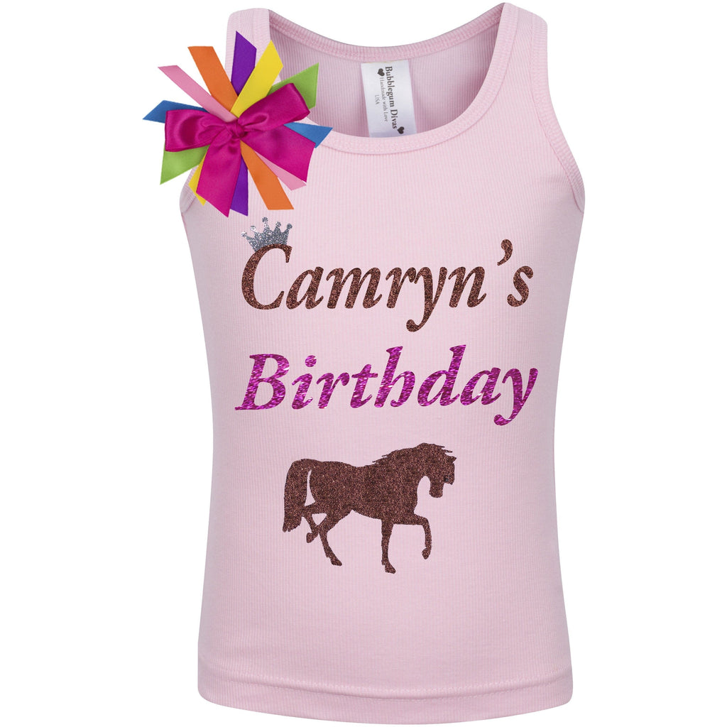 Copy of Horse Birthday Shirt -  - Bubblegum Divas Store