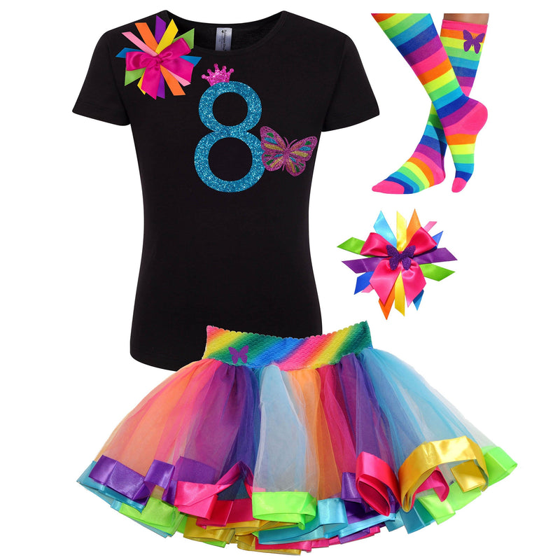 8th Birthday Girl Butterfly Outfit - Outfit - Bubblegum Divas Store