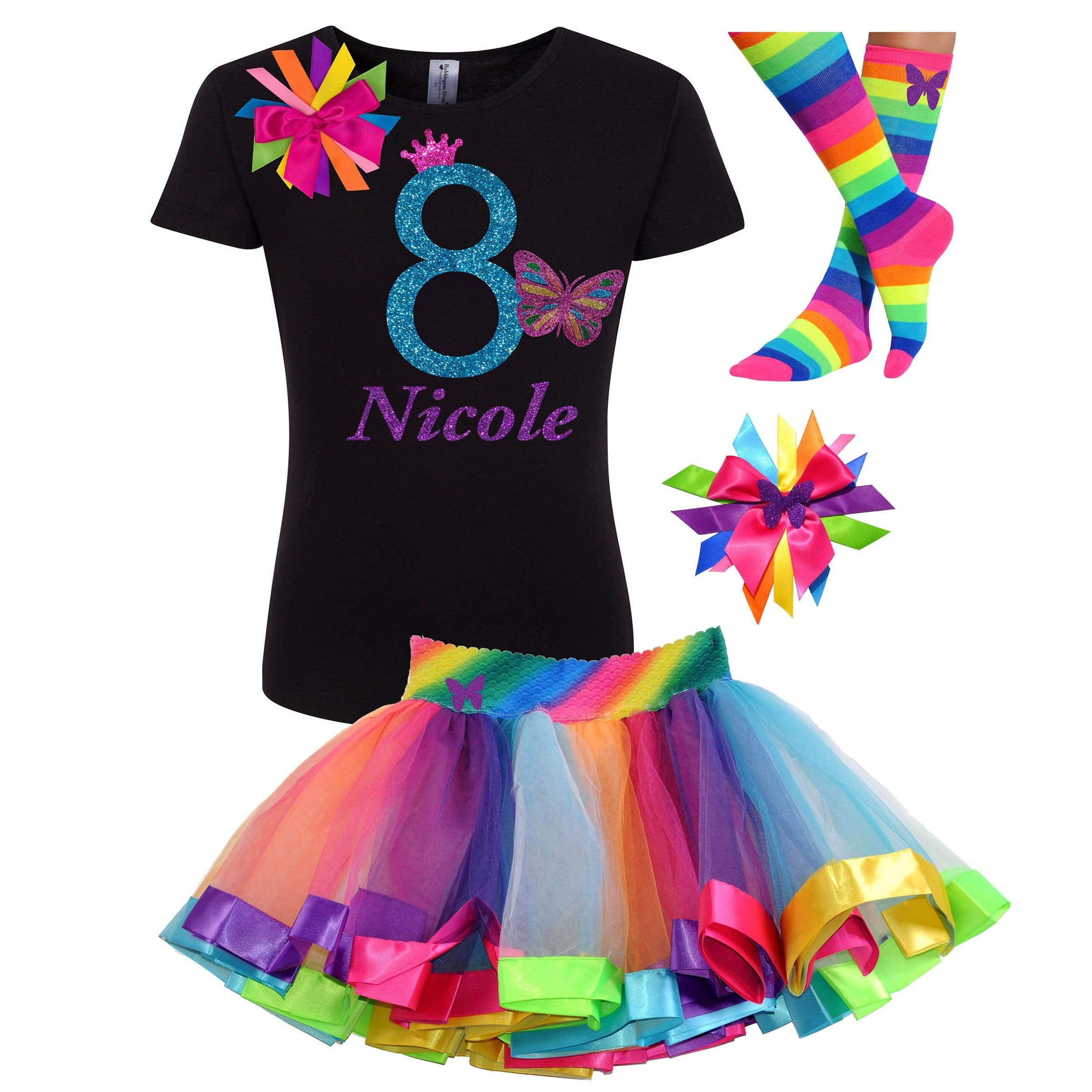 Baby Girls Birthday Dress Tutu Skirts Party Top T-shirt Princess Outfits Costume