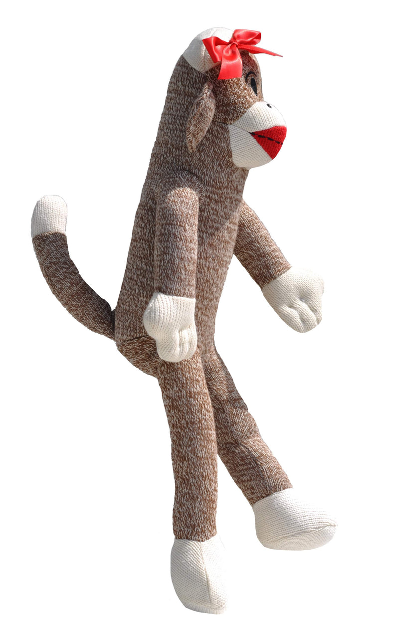 Sock Monkey Red Bow