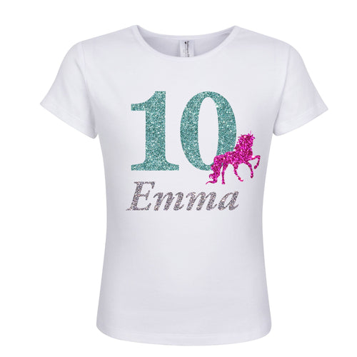 10th Birthday Girl Shirt Unicorn Personalized 10