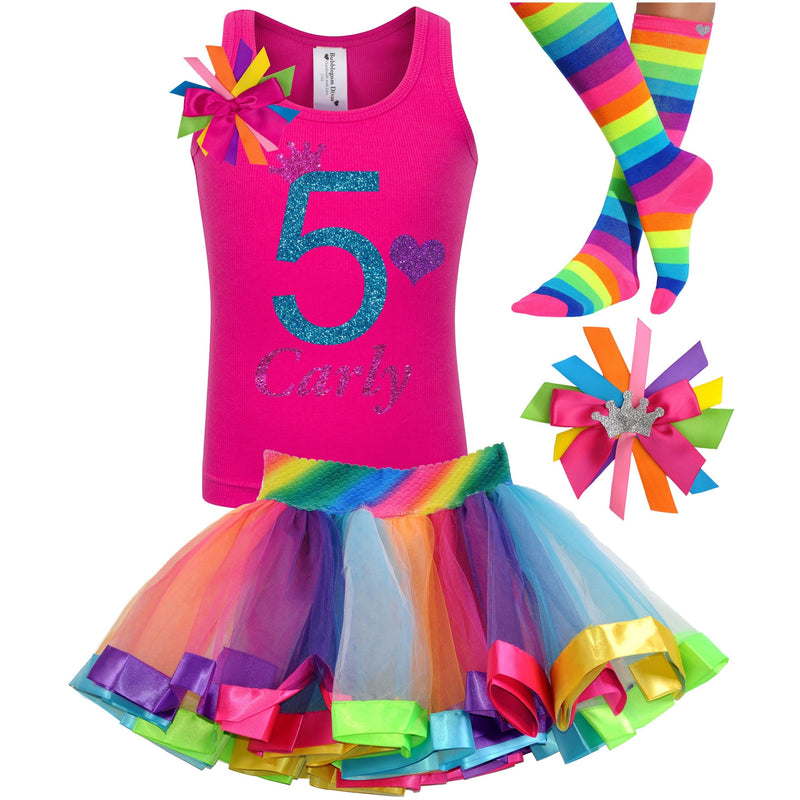 5th Birthday Outfit - Blue Cherry Twist - Outfit - Bubblegum Divas Store