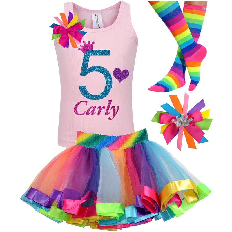 Blue Cherry Twist 5th Birthday - Outfit - Bubblegum Divas Store
