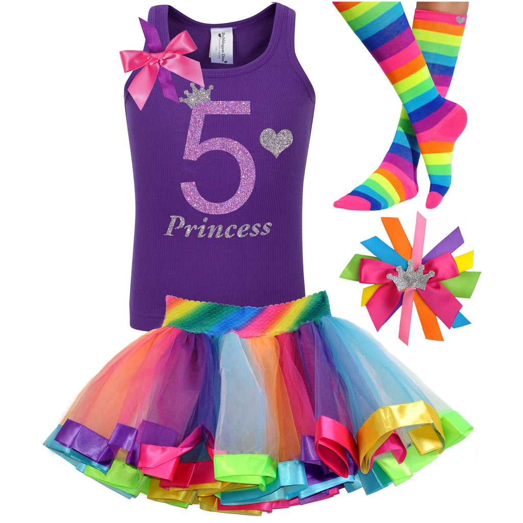 5th Birthday Outfit - Lavender Rose - Outfit - Bubblegum Divas Store