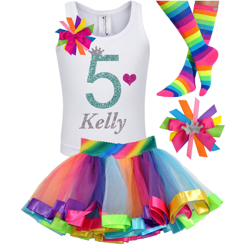 5th Birthday Outfit - Green Apple Twist - Outfit - Bubblegum Divas Store