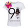 9th Birthday Shirt Black Mermaid Girl