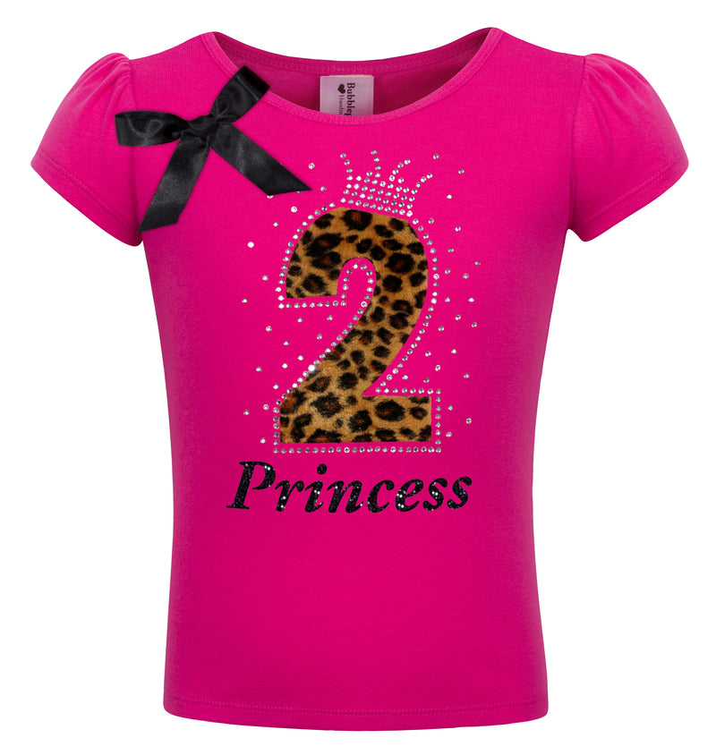 2nd Birthday Girl Cheetah Shirt Personalized 2