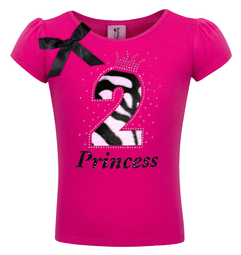2nd Birthday Shirt - Zebra Diva - Shirt - Bubblegum Divas Store