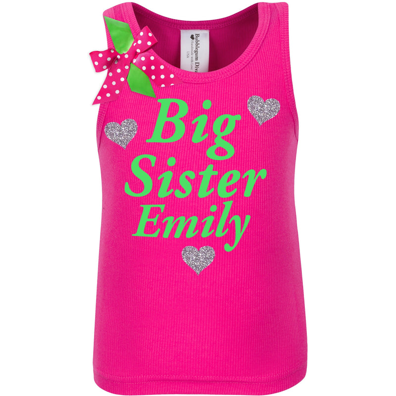 Big Sister Shirt - Love Hearts -  - Bubblegum Divas Store
