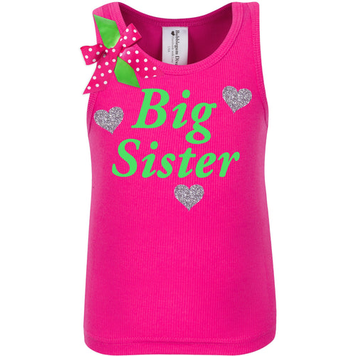 Big Sister Shirt - Love Hearts
