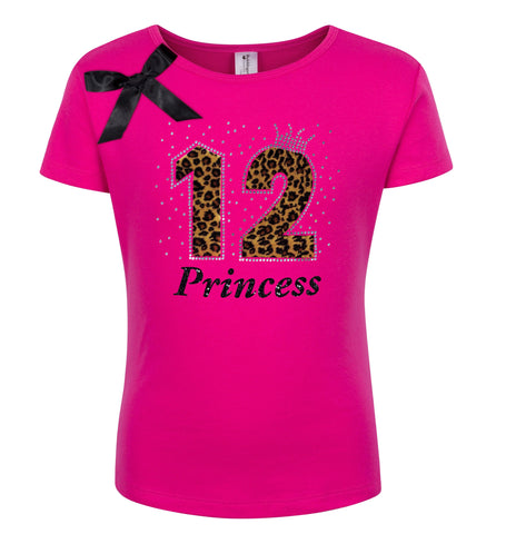 12th Birthday Shirt - Red Cherry Dazzle