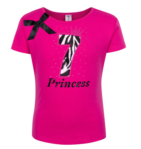 9th Birthday - Zebra Diva Shirt