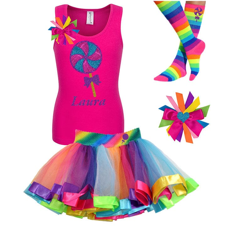 Lollipop Blueberry Swirl - Lollipop Birthday Outfit Kids Teens Girls - Bubblegum Divas Store