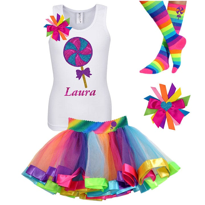 Giant Lollipop Candy Swirl - Lollipop Birthday Outfit Kids Teens Girls - Bubblegum Divas Store