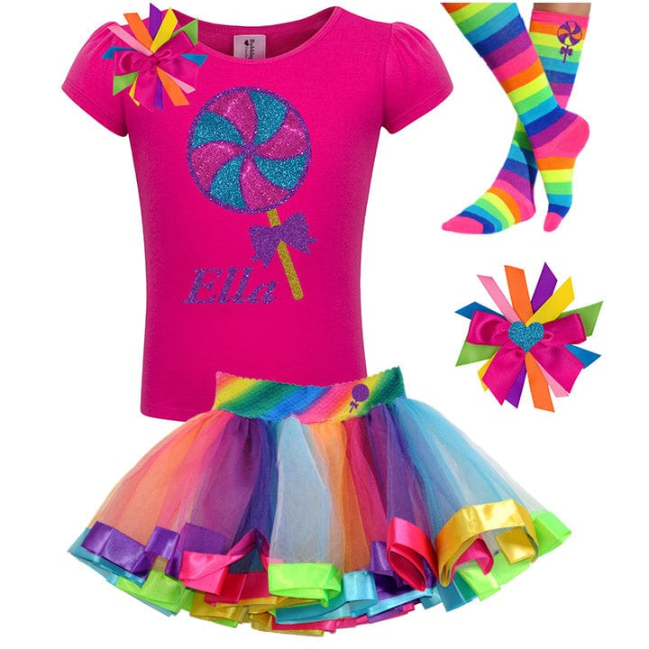 Candyland Lollipop Outfit - Lollipop Birthday Outfits Baby Toddler Girls - Bubblegum Divas Store