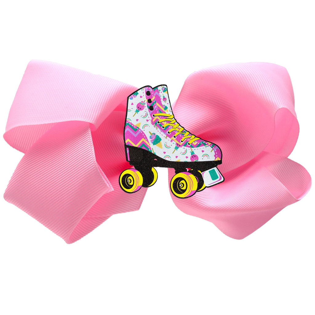 Unicorn Candy Skate Hair Bow Pink