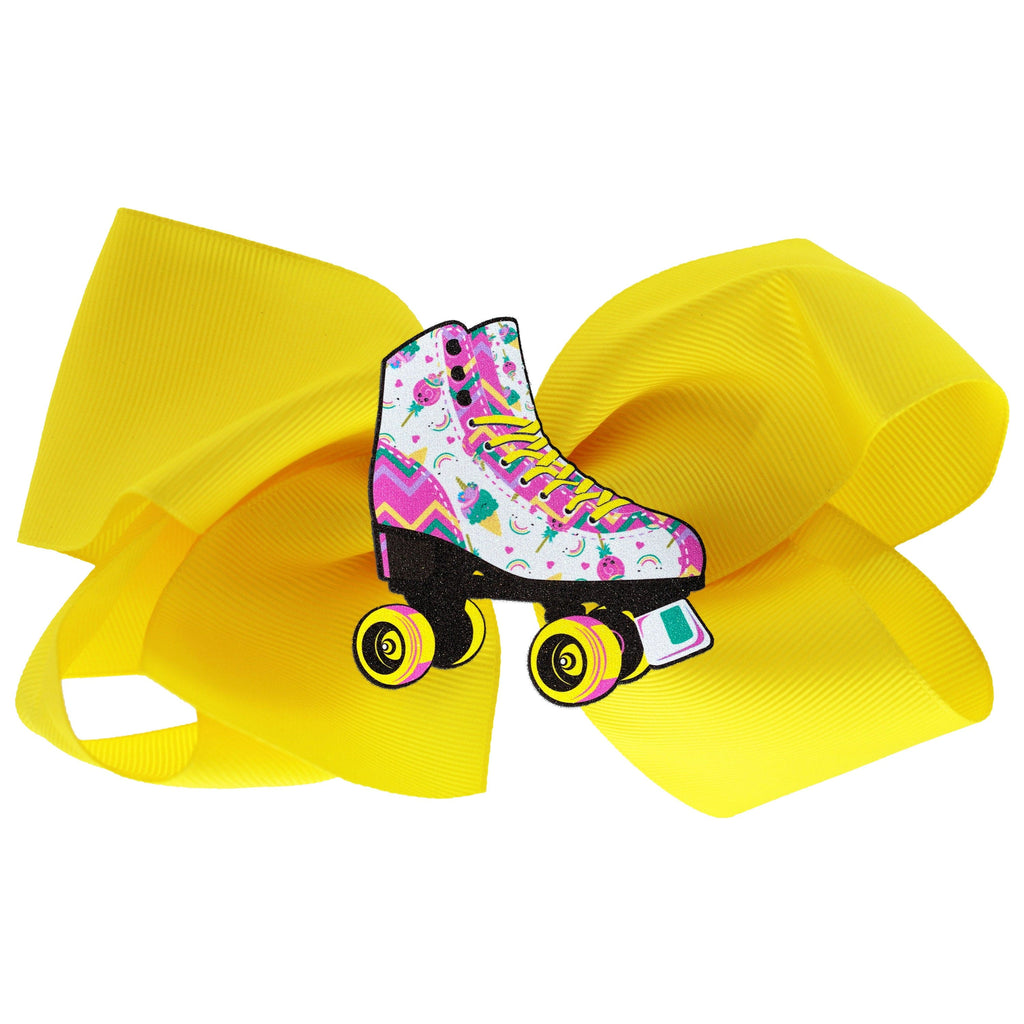 Unicorn Candy Skate Hair Bow Yellow