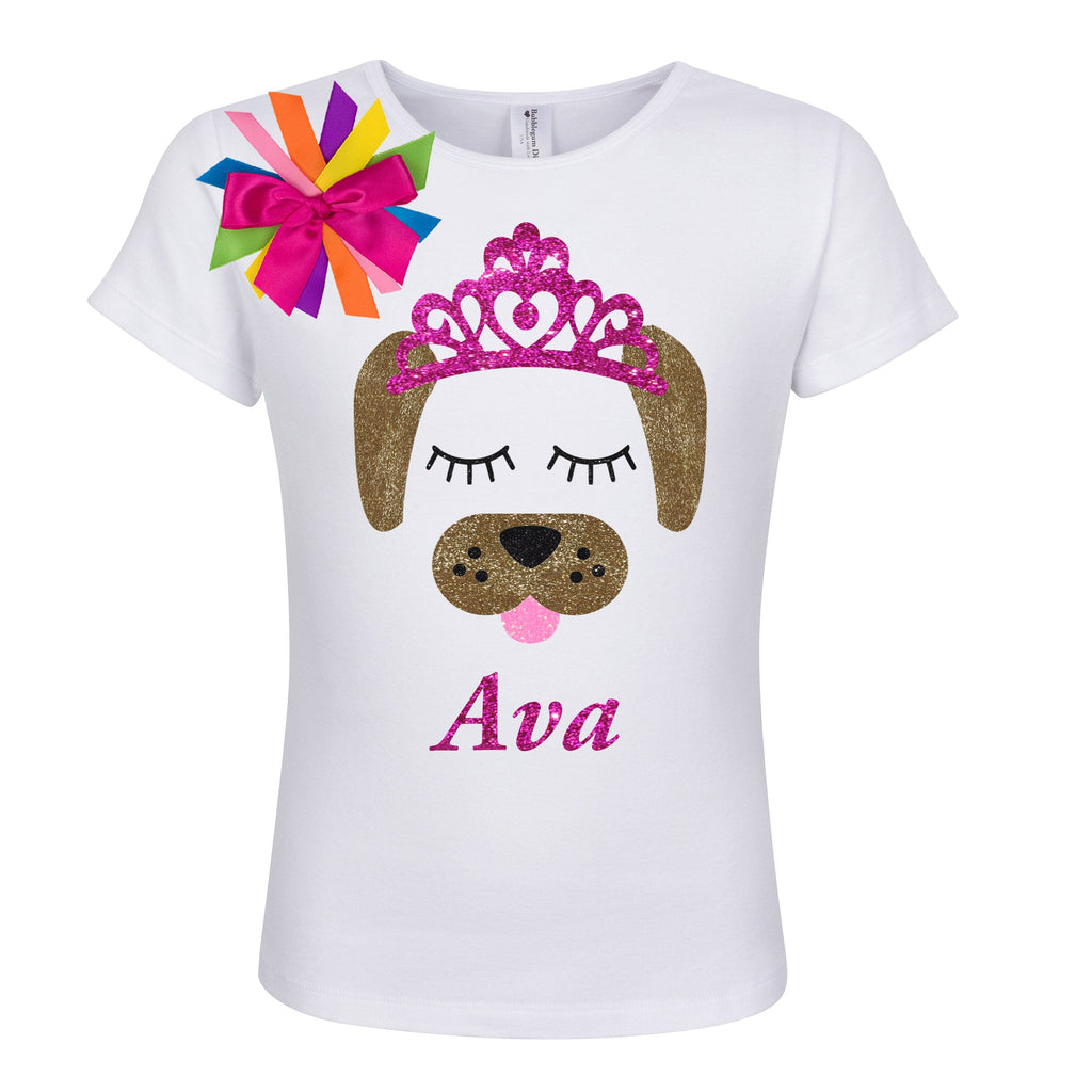 Puppy Dog Shirt - Pink Tiara