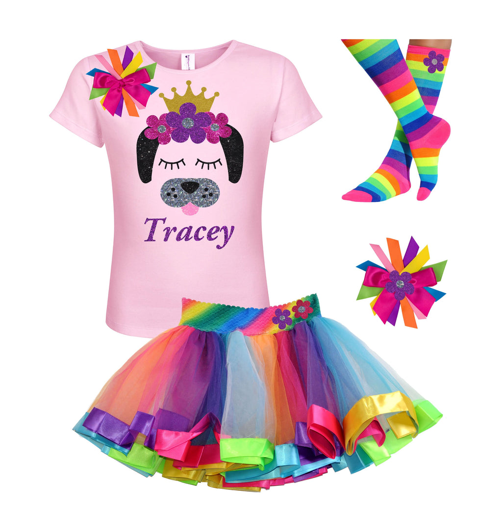 Puppy Dog Outfit - Flowers - Outfit - Bubblegum Divas Store