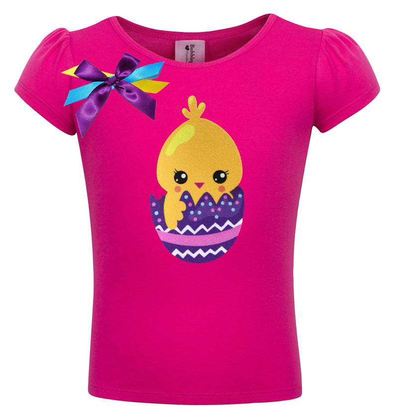 Little Yellow Chick - Purple Easter Egg Shirt - Shirt - Bubblegum Divas Store