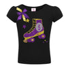 5th Birthday Black Roller Skate Shirt - Shirt - Bubblegum Divas Store