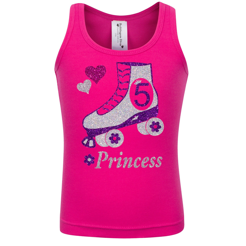 5th Birthday Roller Skate Shirt - Shirt - Bubblegum Divas Store