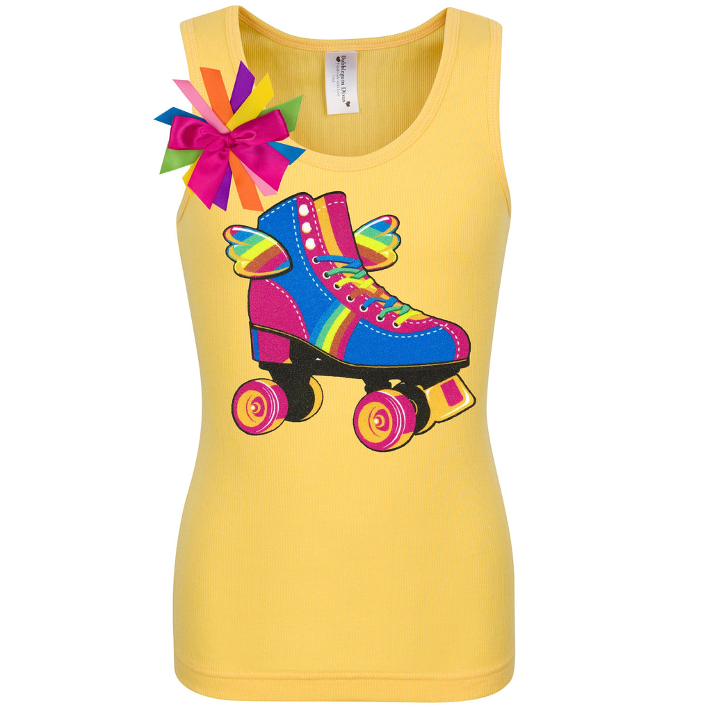 Happy Wings Skate Yellow Shirt