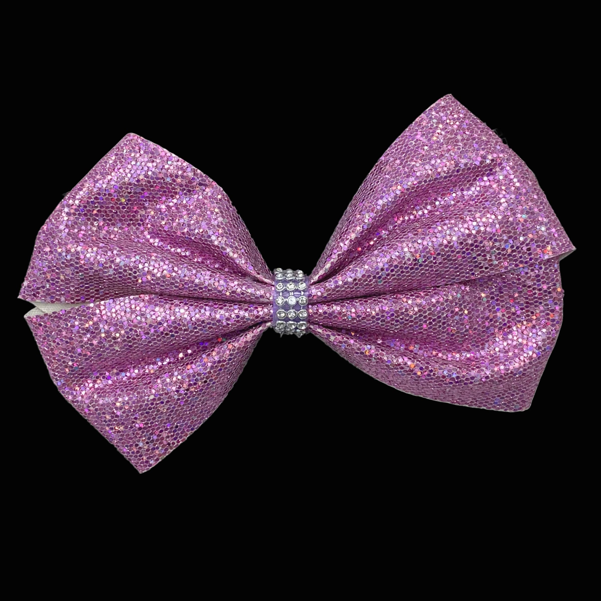 Pink large bow star clip for girls pink sparkle glitter bow double layer bow